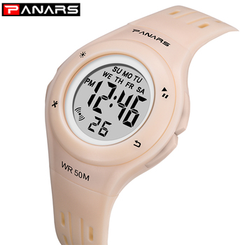 panars sports military children s watches student kids digital watch camouflage green fashion colorful led alarm clock for boys Children's Watch PANARS Waterproof Sports Outdoor Student Alarm Clock Fashion Digital LED Date Kids Boy Girl Hour Wristwatch