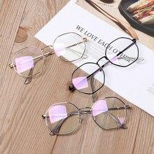Vintage Anti Blau licht Klare Glser Metallrahmen Runde Vision Care Klassische Brillen Frauen