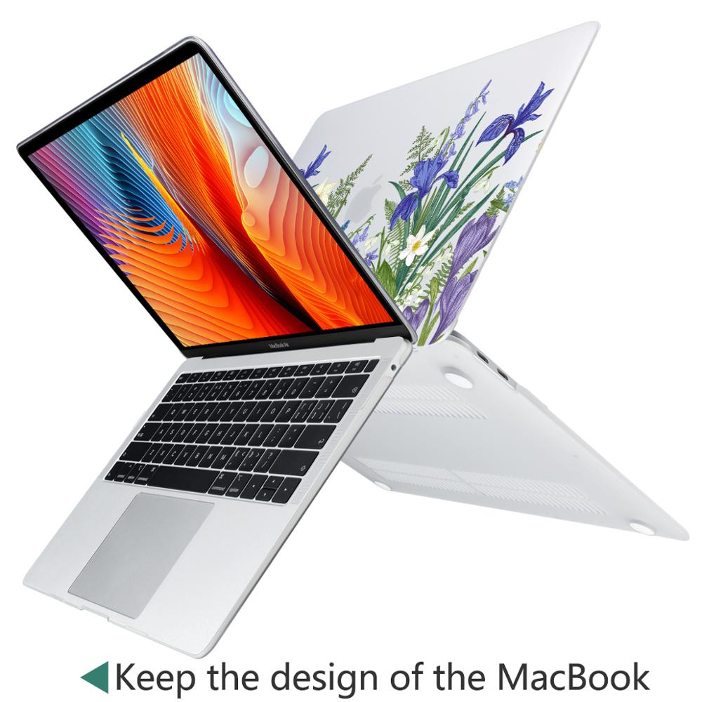Image 5 - Marble Flower Pattern Laptop Case Keyboard Cover for New MacBook Air 13 2018 2019 Pro 13.3 15 inch Retina Touch Bar A2159 A1932Laptop Bags & Cases   -