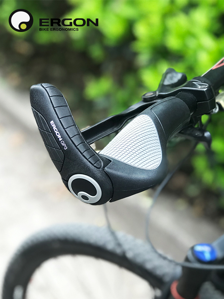 1 Pair CHAMPKEY Shock Absorption Non-slip PU Mountain Bike Handlebar Grip