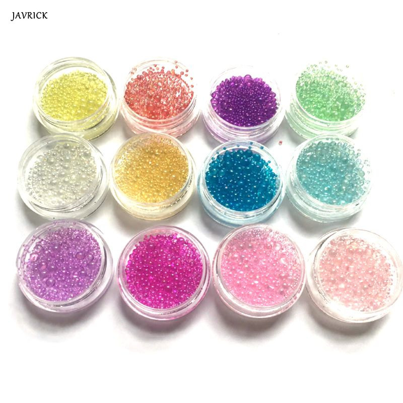 12 Pcs/set DIY Crystal Epoxy Filler Color Bubbles UV Resin Glue Imitation Blister Bubble Beads Filling Material