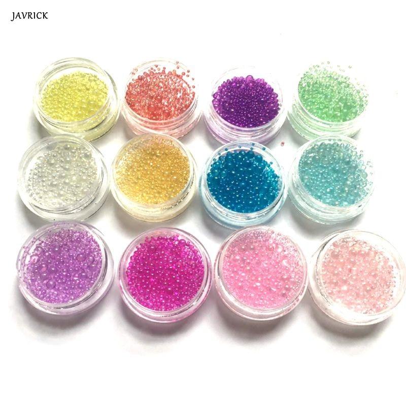 12 Pcs/set DIY Crystal Epoxy Filler Color Bubbles UV Resin Glue Imitation Blister Bubble Beads Filling Material