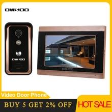 OWSOO 7 بوصة رصد السلكية واي فاي فيديو باب الهاتف نظام الاتصال الداخلي بجرس الباب دخول نظام دعم للرؤية الليلية الهاتف APP عن بعد الاتصال الداخلي