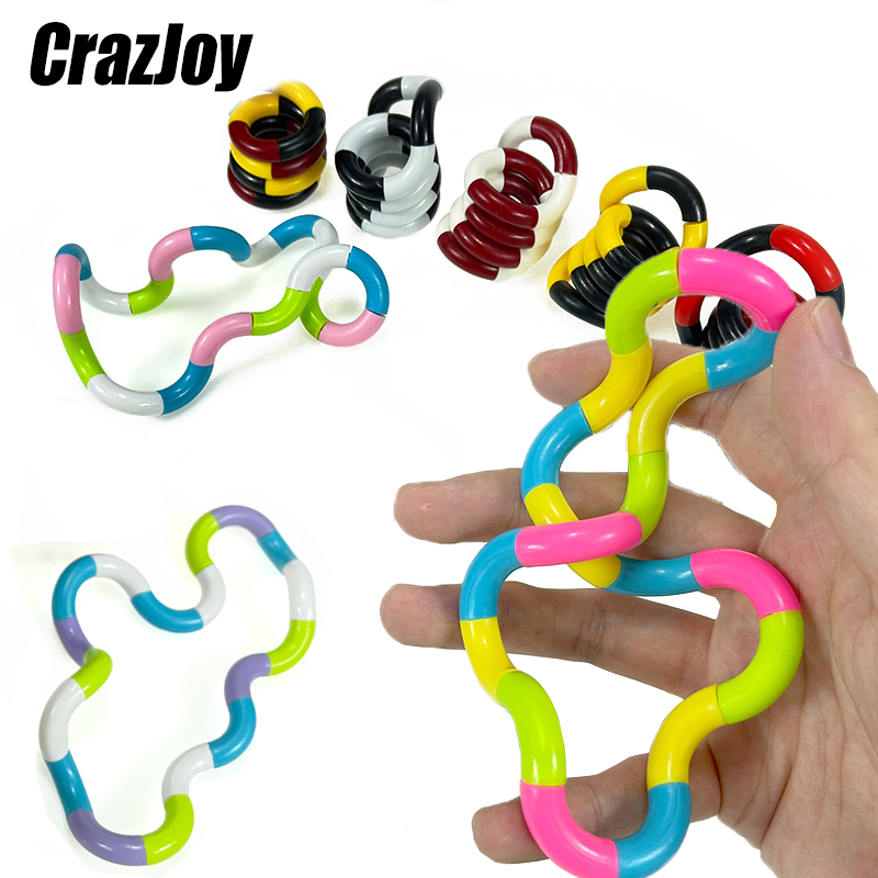 Sensory Roller Twist Relief Fidget Torsion Toys Anti Stress Adult Brain Relax Decompression Child Rope For Stress Kids Focus Toy