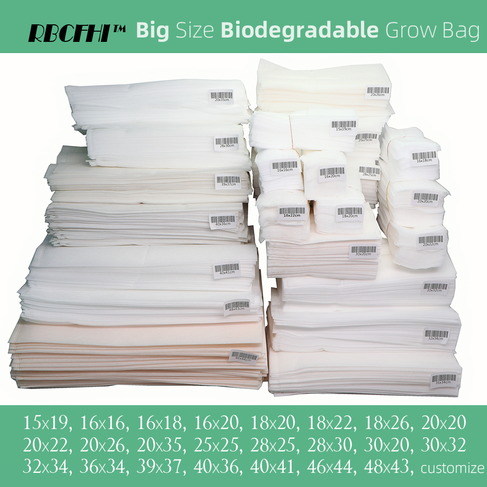 RBCFHI Biodegradable Grow Bags Fabric Nursery Pots for Plantings Growing Aeration Eco-Friendly Bags Garden Agriculture Tree Pots