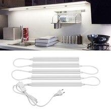 220 В T5 лампа со светодиодной трубкой освещение для шкафа-буфета 6 Вт 10 Вт люминесцентная лампа с ЕС переключатель теплый белый для дома на стены и потолок ночник