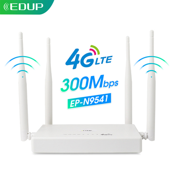 EDUP 4G CPE WiFi Router Support Sim Card 4*5dBi Antennas 2.4Ghz 300Mbps LTE Wireless Router WiFi Hotspot & Modem for outdoor 1