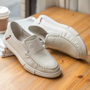 Image 2 - Zapatos de hombre CAEML, conjuntos informales de cuero genuino de vaca, zapatos de negocios, calzado suave y cómodo con amortiguación ligera, nuevo