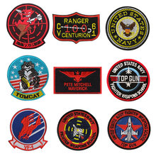 1PC Panas 3D Bordir Aviation Pilot Eagle Pesawat VF-1/Top Gun Tentara Lengan Moral Bab Patch Patch Lencana pakaian Jaket Ikon(China)