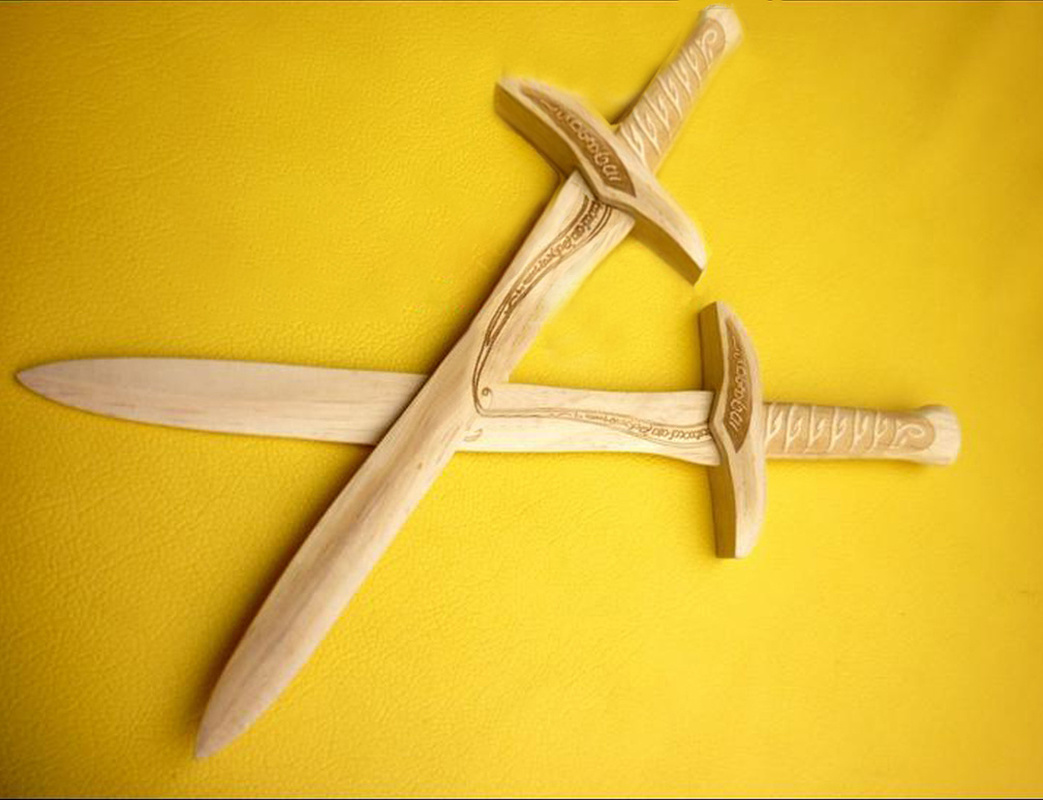 Children's Toy Wooden Sword High-grade And Exquisite Collection Props Performing Cosplay Props A Birthday Present