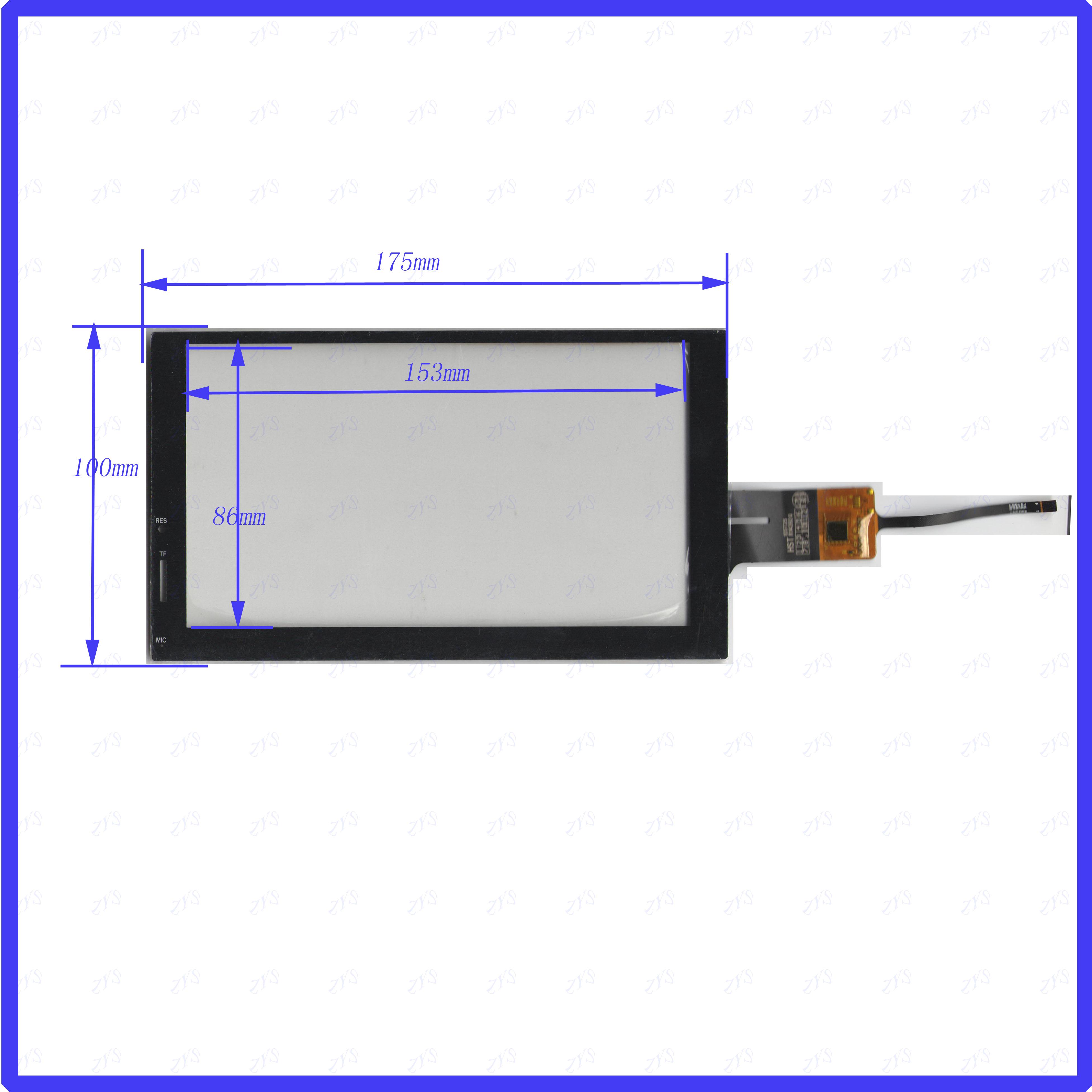 Bilgisayar ve Ofis'ten Tablet LCD'ler ve Paneller'de ZhiYuSun HST 105T25 R14392Q yeni 7 inç 175*100MM dokunmatik sensör paneli 6 kullanım GPS DVD yerleşimi kiti çözünürlük HST105T25R14392Q title=