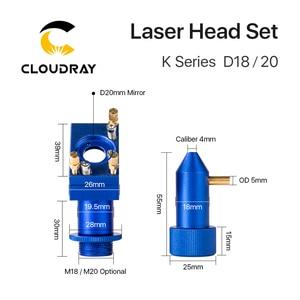 Image 3 - Cloudray K 시리즈 CO2 레이저 헤드 세트 D12 18 20 렌즈 2030 4060 K40 레이저 조각 기계
