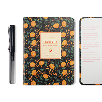 New Arrival Cute PU Leather Floral Flower Schedule Book Diary Weekly Planner Notebook School Office Supplies Kawaii Stationery 10