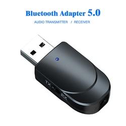 Receptor de Audio Bluetooth 5,0 transmisor 3 en 1 Mini Jack de 3,5mm AUX estéreo USB música adaptador inalámbrico para TV coche PC auriculares