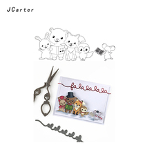JCarter Rubber Stamps for Scrapbooking Craft Music Party Clear Stamp Silicone Seals Stencil Album Card Make Sheet New 2019