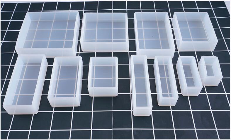 Mirror Geometry Silicone Mold DIY Square Rectangular Epoxy Plastic Mirror Craft Jewelry Ornaments