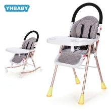 Baby dining chair multifunctional folding high chair child dining table and chair adjustable baby rocking chair portable