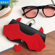 PU Leather Devil Eyeglasses Case Ins Popular Cute Cartoon Women 2019 Sunglasses Storage Protection Unique Glasses Eyewear Bags