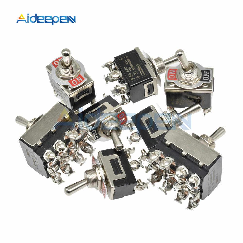 Mini Auto Kippschalter AC 250V 16A 2/3/4/6/12 Pin AUF-OFF AUF-AUF AUF-OFF-AUF 2/3 Position Kupfer/Silber Kontaktieren mit Wasserdichte Kappe