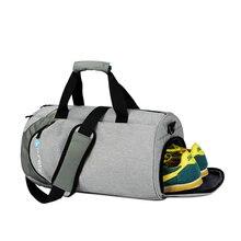 Sacos de desporto à prova dwaterproof água dos homens grande saco de ginásio com compartimento de sapato 2019 saco de yoga fitness saco de viagem ao ar livre bagagem de mão