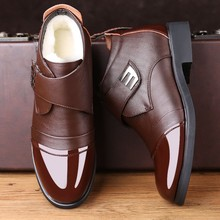 Mazefeng 2019 High Quality Warm Men's Winter Boots Genuine Leather Shoe