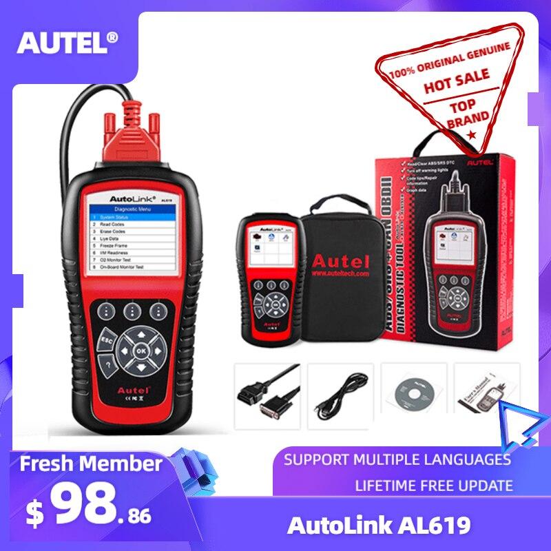 Autel AL619 OBD2 Scanner Auto Diagnose Werkzeug Auto Code Reader Motor, ABS,SRS Automotive Scanner besser als starten X431