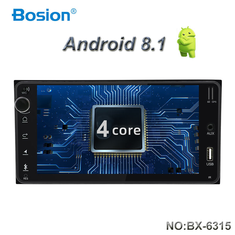 Bosion Android 8.1 car dvd for toyota corolla <font><b>2</b></font> <font><b>Din</b></font> Universal car radio with navigation Bluetooth Wifi BT car stereo gps player image
