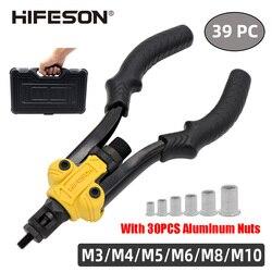 Ferramenta de mão rebite porca inserção, mandril rosqueado, pistola de porca para rebitagem, ferramenta m3 m4 m5 m6 m8 m10 nozes caixa de ferramentas