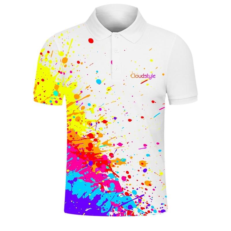 White   Polo   3d Shirts Rainbow Print Casual New Design Men   Polo   Shirts Summer High Quality Tees Tops   Polo   Shirts Plus Size S-7XL