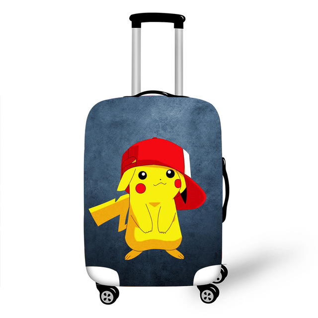 Pikachu Elastic Luggage Protective Cover Case For Suitcase Pokemon Protective Cover Trolley Cases Covers 3D Travel Accessories