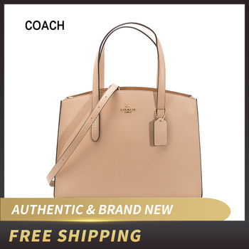 Authentic Original & Brand New COACH Women's Polished Pebble Leather bag Charlie Carryall 25137/38616