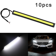 10 pcs Led COB Daytime Running Lights Universal Fog Lamp Waterproof Car Styling Led Day Light DRL Lamp for Auto 14cm цена 2017