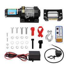 ZL4000LB-2 4000lbs eléctrica recuperación cabrestante de camión remolque ATV coche DC 12V Control remoto cabrestantes
