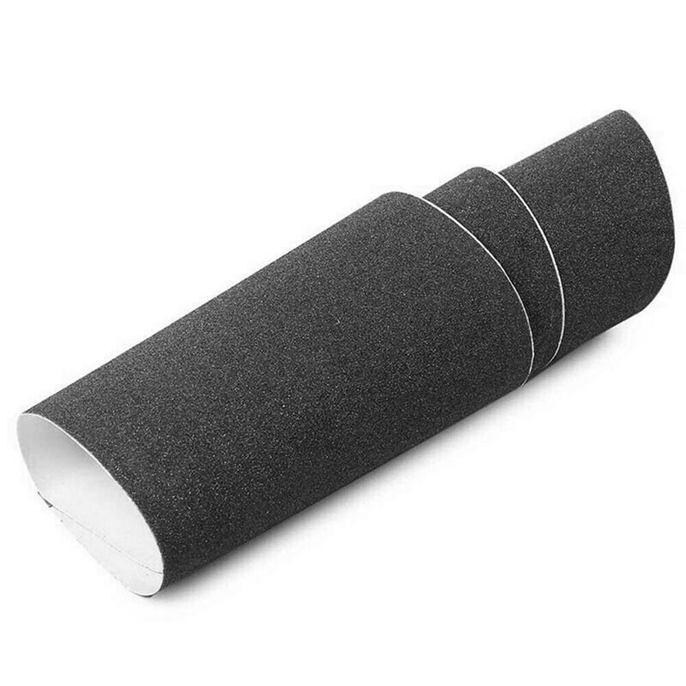 Baralho de skate preto profissional, lixa de papel para placa de skate longboarding 84*23cm novo