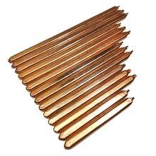Труба из чистой меди трубка для компьютера ноутбука охлаждения ноутбука тепловая труба плоская ширина 10 мм 100 мм/125 мм/150 мм/175 мм/200 мм
