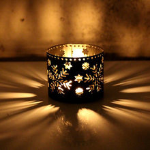 Hollow Holder Candlestick Tealight Menggantung Lentera Sangkar Burung Vintage Tempa Baru Xms Candle Holder Candlestick Creative40(China)