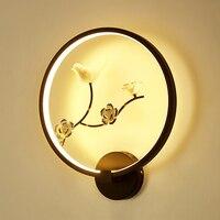 Ретро Китайский ветер настенный светильник Креативный цветочный стиль художественный светодиодный настенный светильник для спальни прик...
