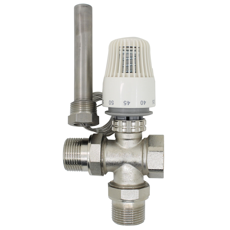 30-70 Degree Control Floor Heating System Thermostatic Radiator Valve  M30*1.5 Three Way Valve  Thermowell DN15 DN20 DN25 DN32