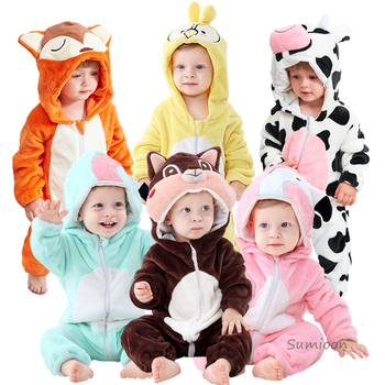 Infant Romper Baby Boys Girls Jumpsuit New born Bebe Clothing Hooded Toddler Baby Clothes Cute Panda Romper Baby Costumes 5