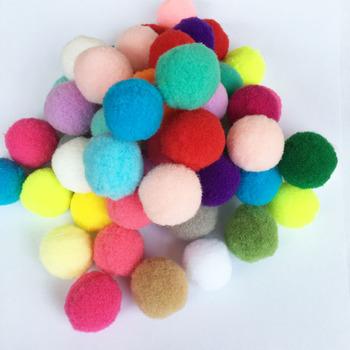 50 sztuk puszyste miękkie pompony Handmade dzieci zabawki dekoracje ślubne DIY pompony czuł piłka krawiectwo dostarcza 25mm tanie i dobre opinie DIY Pompom Ball felt felt balls felt toys