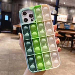 Image 5 - Pop it fidget Phone Case For IPHONE 12 PRO MAX/11 PRO/XS MAX/XR/78 Plus 3D Decompression Silicone Case Bubble Toy Fidget