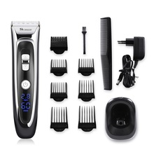 Professional Digital Hair Trimmer Rechargeable Electric Clipper Mens Child hair clipper Adjustable Ceramic Blade