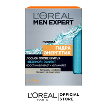 """L'Oreal Paris Men Expert Лосьон после бритья """"Гидра Энергетик, Ледяной эффект"""" восстанавливающий, охлаждающий, 100 мл"""