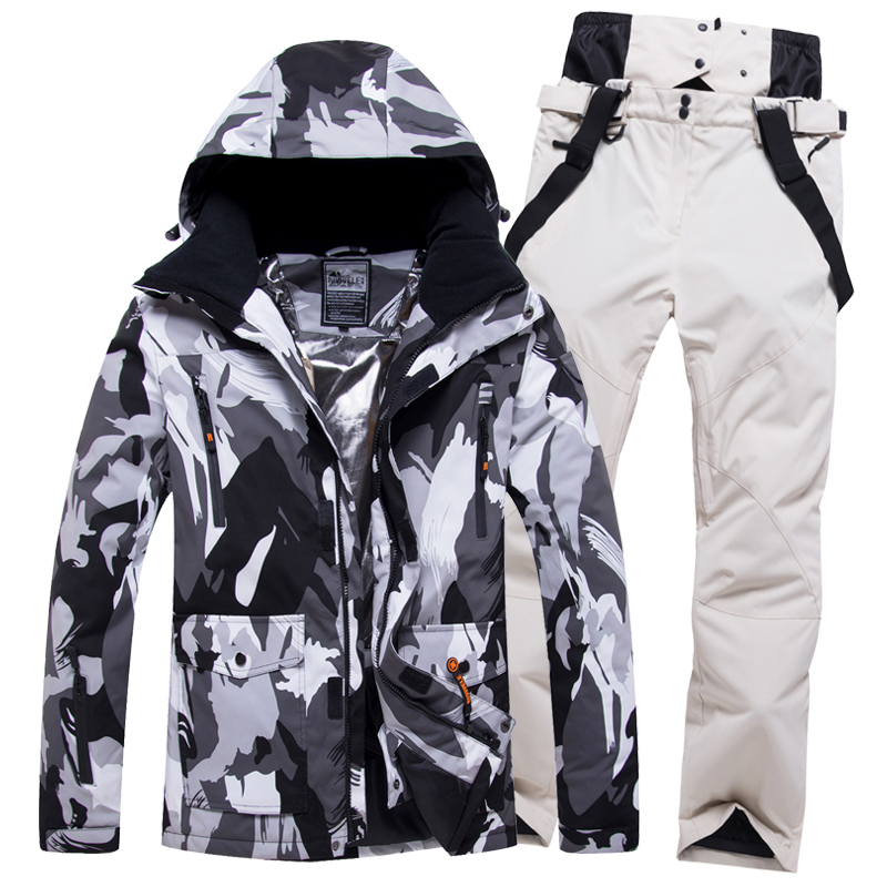 Ski Suit Men Winter Warm Windproof Waterproof Outdoor Sports Snow Jackets And Pants Hot Ski Equipment Snowboard Jacket Men