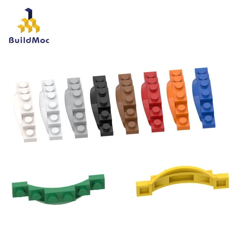 BuildMOC Compatible Assembles Particles 62361 1x6 Fenders For Building Blocks Parts DIY LOGO Educational Tech Parts Toys