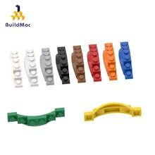 BuildMOC uyumlu toplar parçacıklar 62361 1x6 çamurluklar yapı taşları parçaları DIY LOGO eğitim teknoloji parçaları oyuncaklar