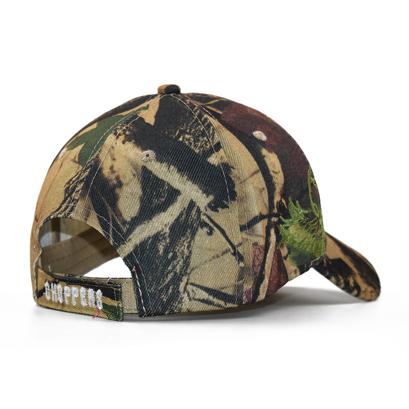 Men's Cotton Camouflage Embroidered Skull Head Baseball Cap, Casual Cuff Cap, Hip Hop Dad Skully Cap