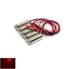 5 шт. 650 нм 50 мВт фокусируемый красный лазер диод точка модуль диаметр 12 мм +3-5 В