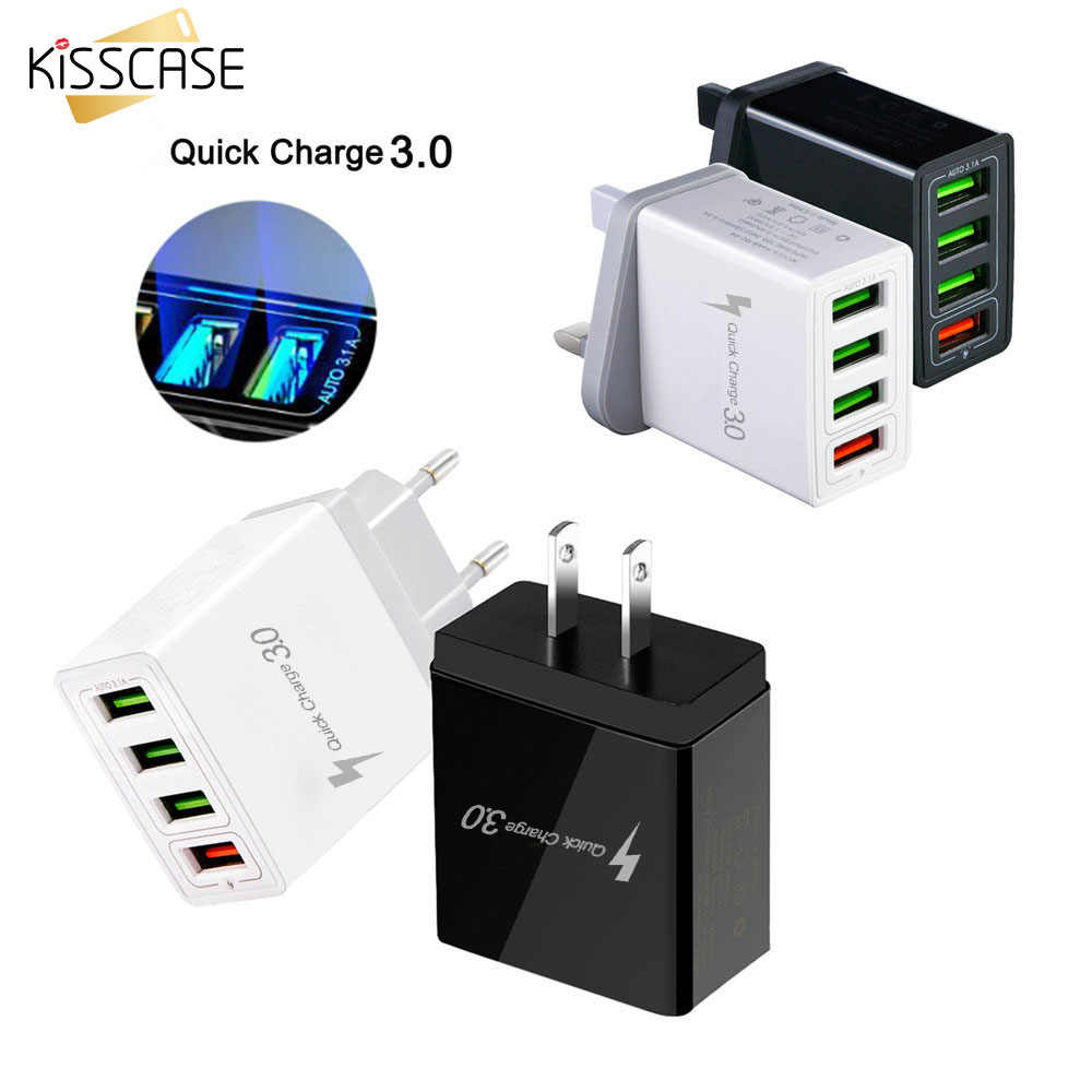 Quick Charge 3.0 USB Chrger 4 Port Fast Opladen Voor iPhone 11 7 X Voor Xiaomi mi8 Voor Samsung S10 s9 Adapater Travel Charger USB