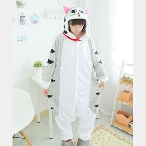 Image 2 - Kigurumi Chi cat onesies Pajamas animal costume Pyjamas Unisex Cartoon character pijama kitchen cat onesies pajamas